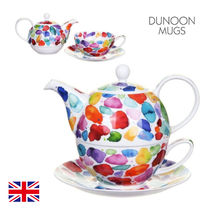 【Dunoon】英国 ティーポット&カップセット Blobs Tea For One