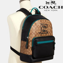 【SALE】COACH◆Westシグネチャーバックパック Rexy By Guang Yu