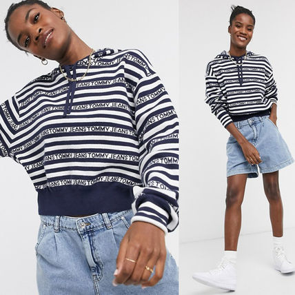 Tommy Jeans ボーダーロゴ レディースフーディー