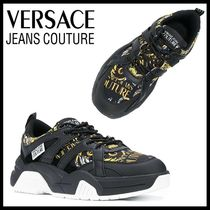 【Versace Jeans Couture】バロック ブラック ロゴ スニーカー