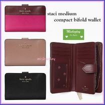 【kate spade】上品★staci medium bifold wallet★レザー折財布