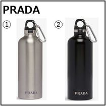 PRADA(プラダ) タンブラー 【PRADA】Logo-print stainless steel water bottle500ml ボトル