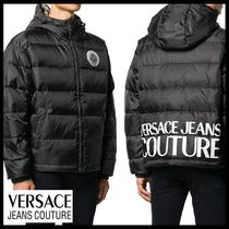 【Versace Jeans Couture】バロック パデッドコート ブラック