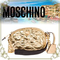 【MOSCHINO 日本未入荷】Gold crossbody messenger shoulder bag