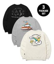 GROOVE RHYME(グルーヴライム) スウェット・トレーナー [GROOVE RHYME]9TH ANNIVERSARY 3PACK SWEAT SHIRTS EDITION