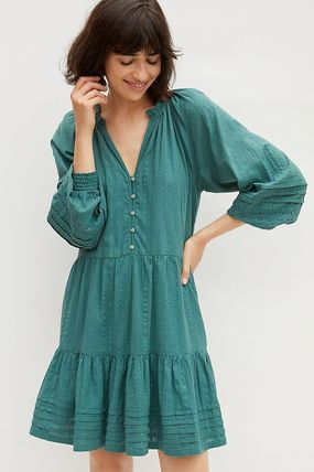 Anthropologie ワンピース セール☆Anthropologieオリジナル☆ Carrie Tiered Tunic Dress(3)
