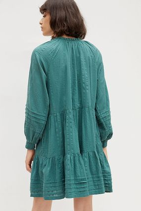 Anthropologie ワンピース セール☆Anthropologieオリジナル☆ Carrie Tiered Tunic Dress(4)