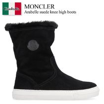 Moncler Arabelle suede knee high boots