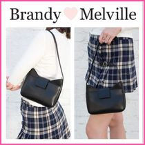 日本未入荷! ☆Brandy Melville☆ BLACK FAUX LEATHER PURSE