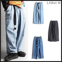 ◆LABEL M◆ DENIM BELT BALLOON PANTS (3色) ベルト付き デニム