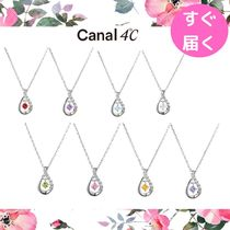 【canal 4℃】誕生石 ネックレス しずくモチーフ