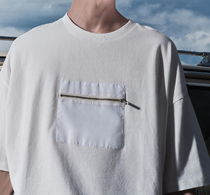 "RESERVED(リザーブド) Tシャツ・カットソー ""RESERVED MEN"" FRONT POCKET T-SHIRT WHITE"