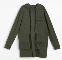 "RESERVED(リザーブド) パーカー・フーディ ""RESERVED MEN"" LONG HOODIE CARDIGAN GREEN"