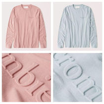 Abercrombie & Fitch  ロングスリーブ エンボス ロゴ Tシャツ