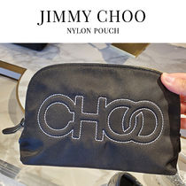 JIMMY CHOO★Mabrie Nylon Pouch マブリー ロゴ ナイロン ポーチ