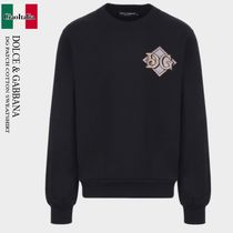 DOLCE & GABBANA DG PATCH COTTON SWEATSHIRT