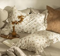 【DECO VIEW】Modal Brick Flower Frill Pillow Cover