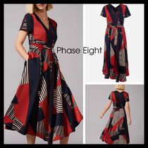 【Phase Eight】完売間近! Clarice Graphic Print Dress 半袖