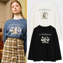 LETTER FROM MOON Vivid Butterfly &Angel Long Sleeve T-shirts