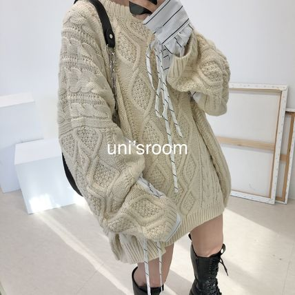uni'sroom■2color コンビネーションビッグニット NT-AW20-12