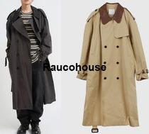 RAUCOHOUSE Leather detail trench coat