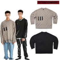 ATTENTIONROW-Block-effect overfit wool-knit sweater