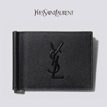 [SAINT LAURENT] [EMS 送料無料] MONOGRAM BILL CLIP WALLET