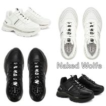 Naked Wolfe(ネイキッドウルフ) スニーカー 送料込 Naked Wolfe☆STRONGER LEATHERストロンガーレザー