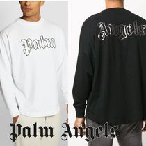 Palm Angels◆glow in the dark long sleeve T-shirt ロゴロンT