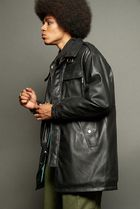[ INSTANTFUNK ] 20FW Eco-leather Safari Jacket (Black)