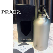 すぐ届く PRADA Logo-print stainless steel water bottle 350ml