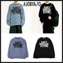 ◆AJOBYAJO◆ OVERSIZED SLOGAN WOOL KNIT SWEATER 人気 韓国発
