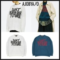 ◆AJOBYAJO◆ OVERSIZED SLOGAN WOOL KNIT SWEATER 2色 男女兼用