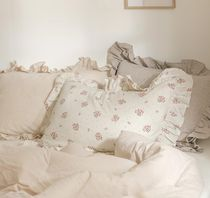 【DECO VIEW】Natural frill Pillow Cover