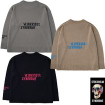 ★STOCKHOLM SYNDROME★BACK LOGO EMB SWEATER 3色