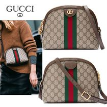 ∞∞ GUCCI ∞∞ Ophidia leather-trimmed shoulder バッグ☆
