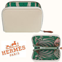 HERMES ◆NEW COLOR Silk in compact Craie◆