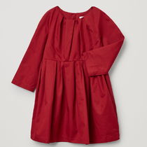 """COS(コス) キッズワンピース・オールインワン """"COS KIDS"""" PLEATED COTTON DRESS RED"""