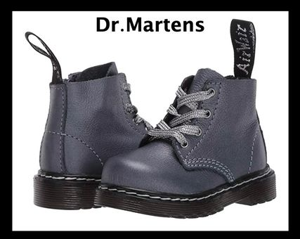 UK発!Dr.Martens ベビー&キッズ 希少!1460 Pascal ガンメタル