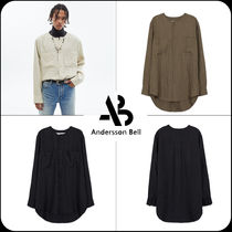 [ANDERSSON BELL] ★COLLARLESS WRINKLE SHIRTS