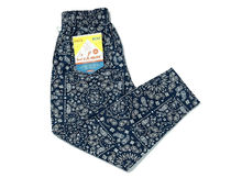 COOKMAN Chef Pants Paisley クックマン ネイビー