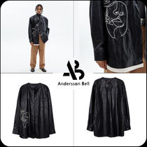 [ANDERSSON BELL] ★UNISEX FAUX LEATHER EMBROIDERY SHIRTS