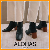 送料込!ALOHAS West Black Braided Leather