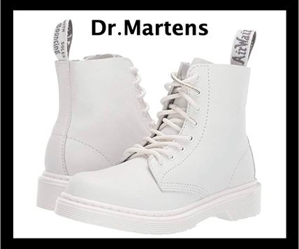 UK発!Dr.Martens キッズ 1460 Pascal Mono Boot  ホワイト☆