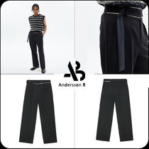 [ANDERSSON BELL] ★RAW-CUT CONTRAST WOOL WIDE TROUSERS