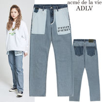 アクメドラビ★ADLV REVERSED DENIM PANT FOR WOMEN BLUE
