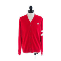 FRED PERRY::TIPPED SLEEVE CARDIGAN SIREN:M[RESALE]