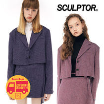 SCULPTOR Cropped Wool Blazer BBH402 追跡付