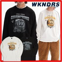 ★韓国の人気★WKNDRS★COLLEGE RING LS T-SHIRT★2色★