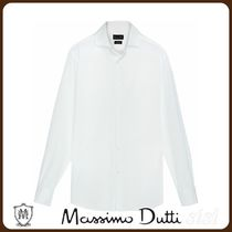 MassimoDutti♪SLIM FIT DYED COTTON SHIRT